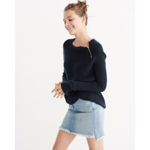 Womens Zip Crew Sweater | Womens Clearance | Abercrombie.com