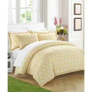 Yellow Claudette Geo Duvet Set | zulily