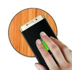 $18.99 Qi Wireless Charger SurgeDisk Bamboo Pad