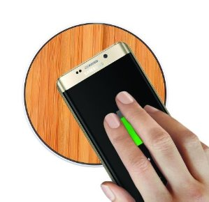 Qi Wireless Charger SurgeDisk Bamboo Pad