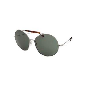 Valentino Women's Fashion Silver-Tone and Havana Sunglasses