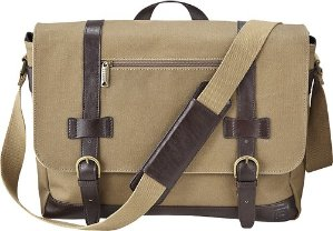Platinum Laptop Messenger Bag Brown