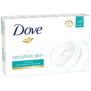 Dove Beauty Bar, Sensitive Skin 4 oz, 16 Bar