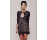 For Love and Lemons Rosalita Mini Dress Black