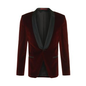 'Arian' | Slim Fit, Velvet Satin Dinner Jacket