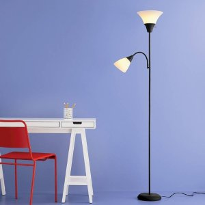 $7.76 Torchiere Floor Lamp with Task Light