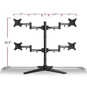 Loctek Full Motion Free Standing Quad Monitor Arm