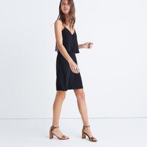 Silk Lowlight Lace-Inset Mini Dress : AllProducts | Madewell
