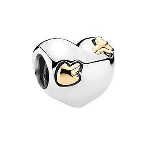 PANDORA Love Struck Heart 14K & Silver Charm @ Rue La La