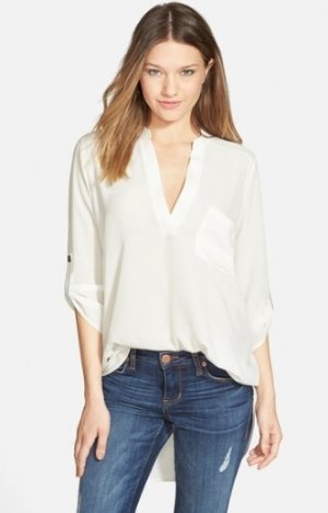 $22.31 Lush 'Perfect' Roll Tab Sleeve Tunic On Sale @ Nordstrom