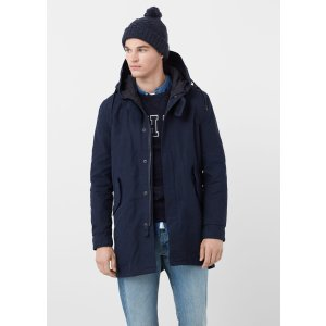 Quilted hooded parka - Man | MANGO Man USA