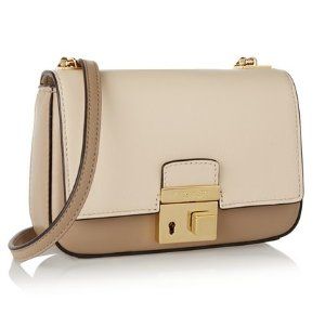 Michael Kors Collection Gia Small Two-Tone Leather Shoulder Bag