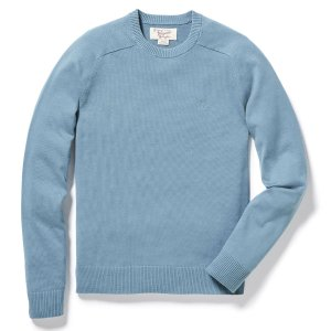 FULLY FASHIONED JERSEY SADDLE RAGLAN CREW SWEATER | Original Penguin