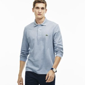 Men's Long Sleeve Chine Piqué Polo Shirt | LACOSTE