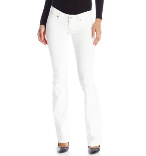 True Religion Women's Joey Low-Rise Flare Jean In Optic White