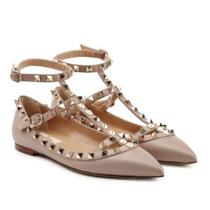 Rockstud Leather Flats  from VALENTINO