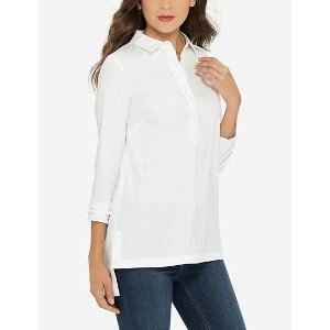 Step Hem Shirt | Women's Blouses & Shirts | THE LIMITED