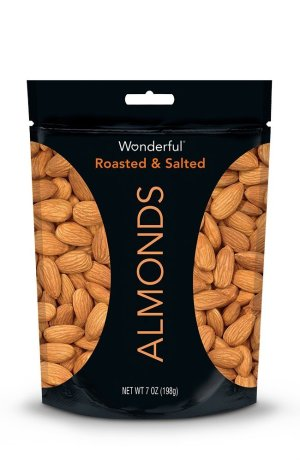 $2.91 Prime Member Only! Wonderful Almonds, Roasted and Salted, 7-oz Bag
