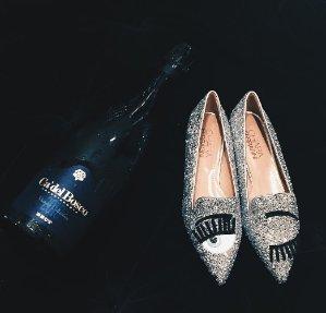 Chiara Ferragni Glitter Flirting Pointed Toe Flat