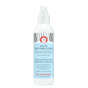 First Aid Beauty Milk Oil Conditioning Cleanser: complete makeup and impurity removing cleanser