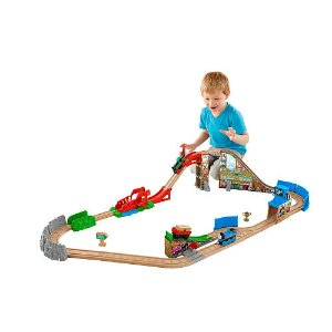 Start! 2016 Black Friday! $69.99 Fisher-Price Thomas & Friends Wooden Railway Race Day Relay Set