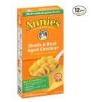 $8.32 Prime Member Only! Annie's Shells & Real Aged Cheddar Macaroni & Cheese 6 oz. Box (Pack of 12)