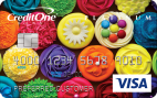 Show off your style with a premium card design, a fee may apply.Credit One Bank® Unsecured Platinum Visa®
