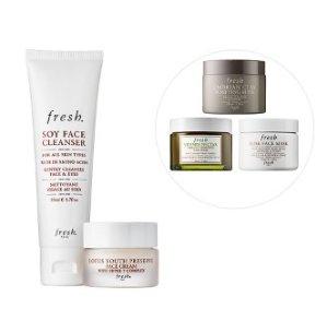 $80(价值$95)+免邮!Sephora精选Fresh自选超值护肤套装热卖