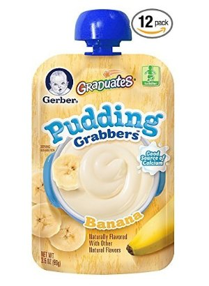 $15 Gerber Graduates Grabbers Pudding, Banana, 3.5 Ounce (Pack of 12)