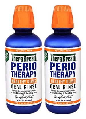 TheraBreath Dentist Recommended PerioTherapy HEALTHY GUMS Oral Rinse, 16.9 Ounce, (Pack of 2)
