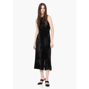 Velvet palazzo jumpsuit - Woman