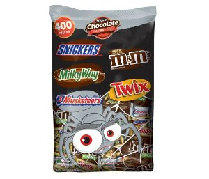 $21.68 Mars Chocolate Favorites Halloween Candy Variety Mix, 400 count, 126.3 oz