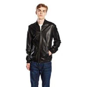 €224.55 BOSS Orange Jemmay Men's Leather Jacket