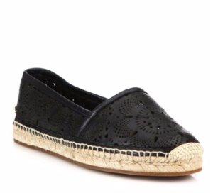 $219.99(原价$525)Burberry 黑色镂空渔夫鞋