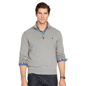 Cotton Half-Zip Sweater - Sale � Men - RalphLauren.com