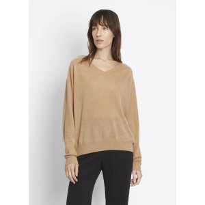 Cashmere Relaxed Vee for Women | Vince