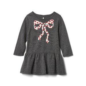 Bow intarsia drop-waist dress | Gap
