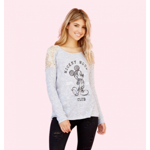 Mickey Lace Sweatshirt