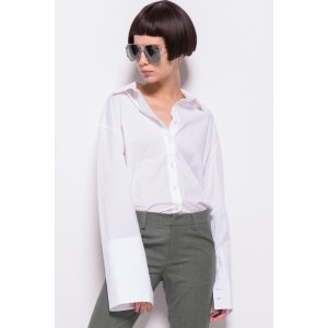 FRS White Flare Sleeve shirt with Cuff Slit