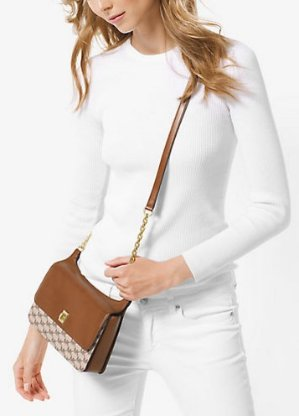 Up to 77% Off MICHAEL Michael Kors Natalie Medium Leather Messenger