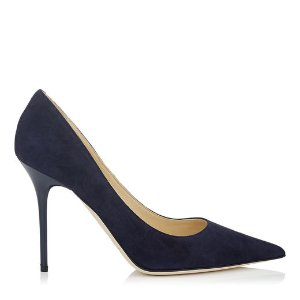Navy Suede Pointy Toe Pumps | Abel | 24/7 Collection | JIMMY CHOO