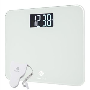 Etekcity 4.3 Inch Large LCD Display Digital Body Weight Scale, 440 Pounds, White