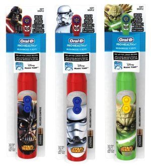 $4.49 Oral-B Pro-Health Disney Star Wars Battery Toothbrush for Kids, Characters/Color May Vary
