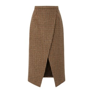 Houndstooth Scissor Skirt by Michael Kors Collection