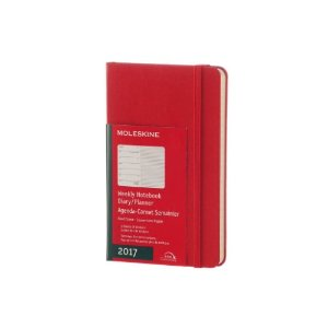 Moleskine 2017 Weekly Pocket Planner, Hard Cover, Scarlet Red, 3.5 x 5.5 in. | Jet.com