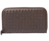 Intrecciato Nappa Zip Around Wallet by Bottega Veneta