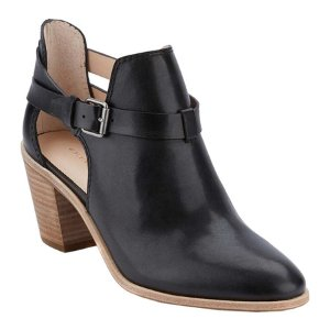 Womens G.H. Bass & Co. Sylvia Block Heel Cutout Booties - FREE Shipping & Exchanges