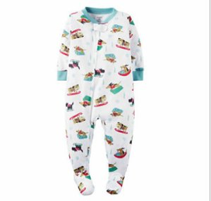 $18 4-Pairs Carter's Children Footed Pajamas & Sleepers
