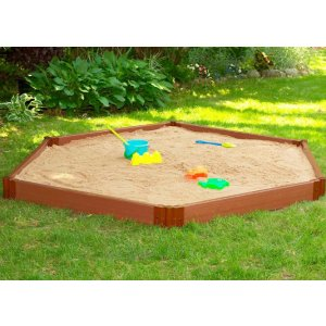 Frame It All Two Inch Series 7 ft. x 8 ft. x 5.5 in. Composite Hexagon Sandbox Kit-300001231 - The Home Depot