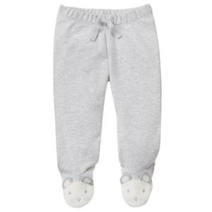 Baby Dove Grey Mouse Footed Pants by Gymboree